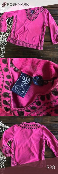 Tory Burch Kids French Terry Tunic This is a great top.  It's super cute over leggings or with a skirt.  It says it's a size M but I would call it more of a 3T - 4T. I put the size as a 3T simply because I would rather your kid be able to grow into in than you get it and it's too small.  It has been worn and it does show signs of wash but it's still super cute and has lots of life left. Shirts & Tops Blouses