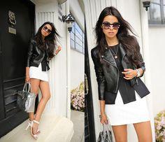 Oh So Black & White (by Annabelle Fleur) http://lookbook.nu/look/4754439-Oh-So-Black-White-Topshop-Skirt-Keepsake-Top-Coach-Sandals-Reed-Krakoff-Bag
