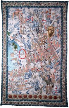 Vintage Egyptian Appliqué Handmade Textile Quilt Wall Hanging Tapestry Boat Grade Products According To Quality Tapestries