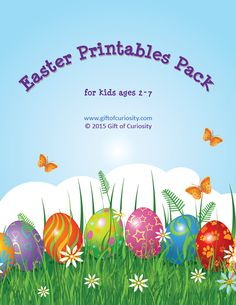 Easter Printables Pack: More than 80 Easter learning activities for kids ages 2-7. So much fun stuff in this pack! || Gift of Curiosity
