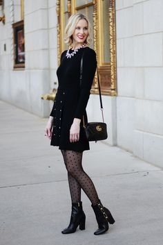 Work Holiday Party Outfit Idea + Boot Giveaway. Christmas Party OutfitsHoliday  ... 15ee5ce01b1f