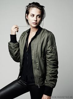 Willa Holland in Topshop Ultimate MA1 Bomber Jacket // Photo by Naj Jamai.