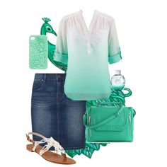 """Peacock green"" by audreyfultz18 on Polyvore......Apostolic Pentecostal Outfit"