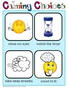 Calming Corner Posters: reference for a time out, take 5, or break corner