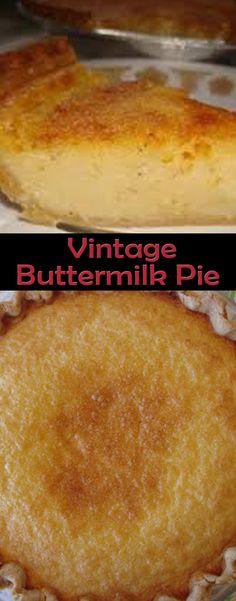 Vintage Buttermilk Pie