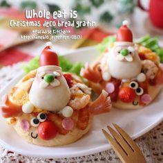 MAAさんの丸ごと食べれる クリスマスデコパングラタン #snapdish #foodstagram #instafood #food #homemade #cooking #japanesefood #料理 #手料理 #ごはん #おうちごはん #テーブルコーディネート #器 #お洒落 #ていねいな暮らし #暮らし #あさごはん #朝ごパン #クリスマス #サンタさん #デコパン #christmas #かわいい #パングラタン #グラタン https://snapdish.co/d/fyKq1a