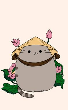 A new and very ladylike outfit for Pusheen.