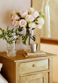 Epitome of Perfection - Wood, Glass, Live Flowers, Water, Metal, Paper Books, NO PLASTIC