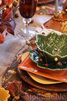 Autumn Patchwork Tablescape - StoneGable