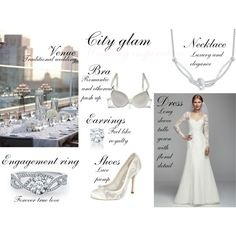 """City Glamorous Wedding"" by thefashionjourn on Polyvore Glamorous Wedding, Traditional Wedding, Formal Dresses, Wedding Dresses, Lace Detail, Romantic, Glamour, Gowns, Elegant"