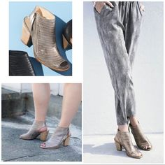 ad725e6f6 Paul Green Shoes | Paul Green Cayenne Metallic Leather Sandals Heels |  Color: Gray/Tan | Size: 7.5