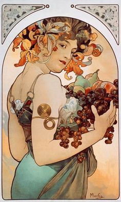 Alphonse Mucha - Fruit.