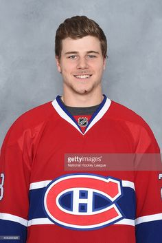 Nathan Beaulieu of the Montreal Canadiens poses for his official headshot for the 2014-2015 season on September 18, 2014 at the Bell Sports Complex in Brossard, Quebec, Canada.