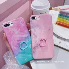 Fashion Concise Granite Marble Stand Holder Hard Case For Iphone 7 7Plus 8 8Plus
