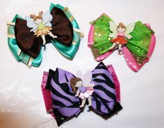 Fairy Collection  Mini Bowtique Bows by HodgePodgeBowtique on Etsy, $5.50