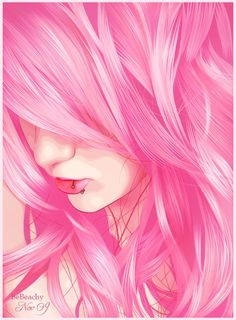 Vexel is a form of pixel-based raster art that imitates the appearance of what we know as vector graphics; smooth, sharp-edged illustrations that can be scaled up and down. Vexel art, however, is. Pink Love, Pretty In Pink, Illustrations, Illustration Art, Pelo Anime, Digital Art Girl, Pink Art, Everything Pink, Sakura Haruno