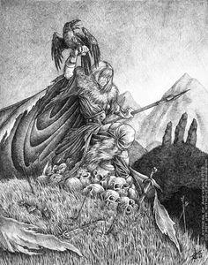 My favorite drawing of The Morrigan.