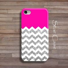 iPhone+4/+4s+and+5+Case++Chevron+Glitter+Hot+Pink+by+STARCASE,+$19.99