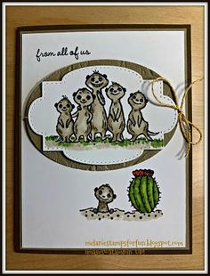 Melanie Coverston Independent Stampin' Up! Fabric Stamping, Stamping Up Cards, Cat Cards, Bird Cards, Birthday Cards For Men, Handmade Birthday Cards, Hand Stamped Cards, Get Well Cards, Animal Cards