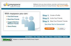 "Early ""MySpace"" - do you even remember MySpace?"