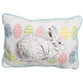 Found it at Wayfair - Bunny Eggs Printed Applique Easter Decorative Jute Lumbar Pillow