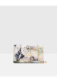 Gem Gardens clutch bag