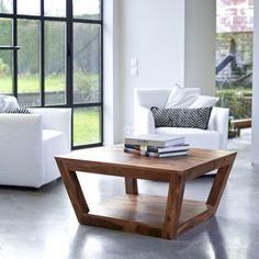 Table basse en palissandre – Tables basses 80x80 Villa chez Tikamoon