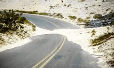 Sand Embankment —  Stop Blowing #Sand on Roads use #EBS for Sand Stabilization #GCC #UAE #SaudiArabia #MiddleEast