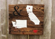 Rustic Home is where the Heart is double Home by WehuntWoodDecor