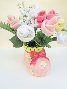It's a Girl Baby Flower Centerpiece  Baby Girl by VioletCreationz, $24.99