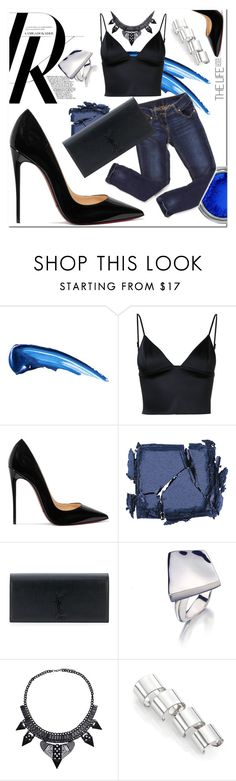 """""""Street Style"""" by drerak ❤ liked on Polyvore featuring T By Alexander Wang, Christian Louboutin, Surratt, Yves Saint Laurent and Maison Margiela"""