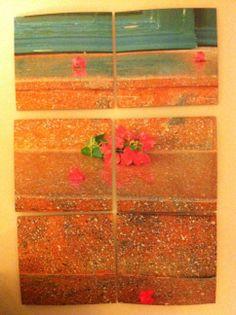 Coasters - Poros stone with geranium