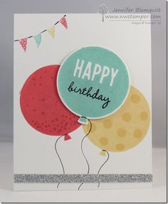 A Cheery Birthday Card with Celebrate Today and Balloon Framelits | Northwest Stamper