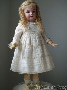 Simon and Halbig Bergmann Antique Doll with A Lovely Dress   eBay