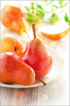 The beautiful colors of pears echo the beautiful taste within.