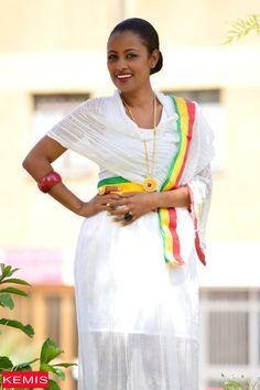 Ethiopian habesha dresses skirts traditional clothing beige Kemisd by kemisd on Etsy