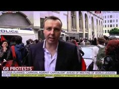Reporter attacked on air. Sky News' Mark White attacked on air while on G8 protest report