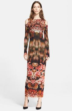 Jean Paul Gaultier Print Cold Shoulder Tulle Long Dress (Nordstrom Exclusive) available at #Nordstrom