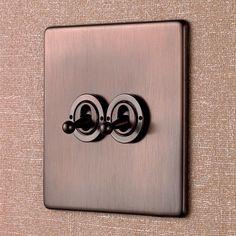 Interrupteur bouton poussoir / à levier / quadruple / double PENTHOUSE Wandsworth