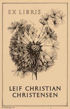 Art-exlibris.net - exlibris by Mads Stage for Leif Christian Christensen