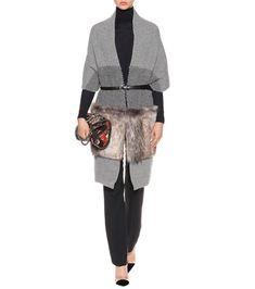 Stella McCartney - Faux-fur trimmed wool scarf - mytheresa.com