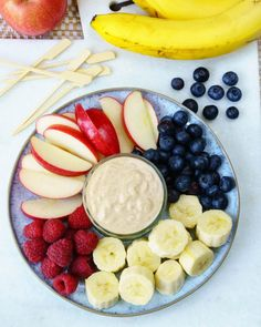 Peanut Butter Fruit Dip Recipe Ingredients  1 cup Greek Yogurt 1/4 cup creamy Peanut Butter 1 Tbsp raw honey, or to taste Instructions  Add all ingredients to a bowl and whisk until smooth. Serve with fruit (recommended bananas, apples, raspberries or strawberries). My kids like to use toothpicks to eat this! Store in refrigerator in an airtight container for up to 4 days.