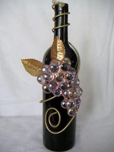 Painted Glass BottlesPaint BottlesDecorated BottlesWine Bottle VasesRecycled Wine BottlesGlass Bottle CraftsBottles And JarsAltered BottlesBottle Painting. Wine Bottle Glasses, Wine Bottle Corks, Glass Bottle Crafts, Bottle Candles, Lighted Wine Bottles, Diy Bottle, Bottle Lights, Liquor Bottles, Glass Bottles