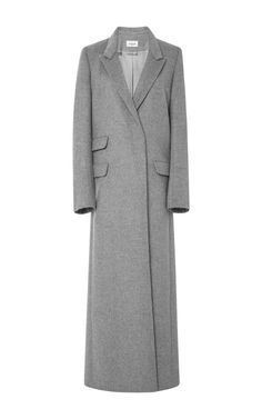 Long Coat In Heather Grey by MUGLER for Preorder on Moda Operandi