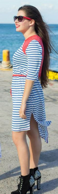 Striped Tshirt Dress by TamtrumClothing on Etsy, £16.30