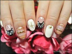 nail art /kawaii /cat