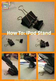 How to make a stand for your iPod or iPhone using binder clips! DIY!