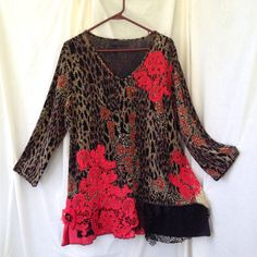 A personal favorite from my Etsy shop https://www.etsy.com/listing/468685461/upcycled-top-short-dress-tunic-gypsy