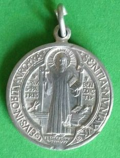 Vintage French Catholic Silver Colour Medal Saint Benedict Religious  A1218 Catholic Medals, French Vintage, Silver Color, Colour, Personalized Items, Ebay, Color, Colors