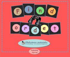 """Smart Notebook-lektion fra www.skolestuen.dk - """"Find ordet"""" - et spil, hvor det handler om at finde danske rimord, modsatte ord, udsagnsord, navneord og ord i ental eller flertal."""